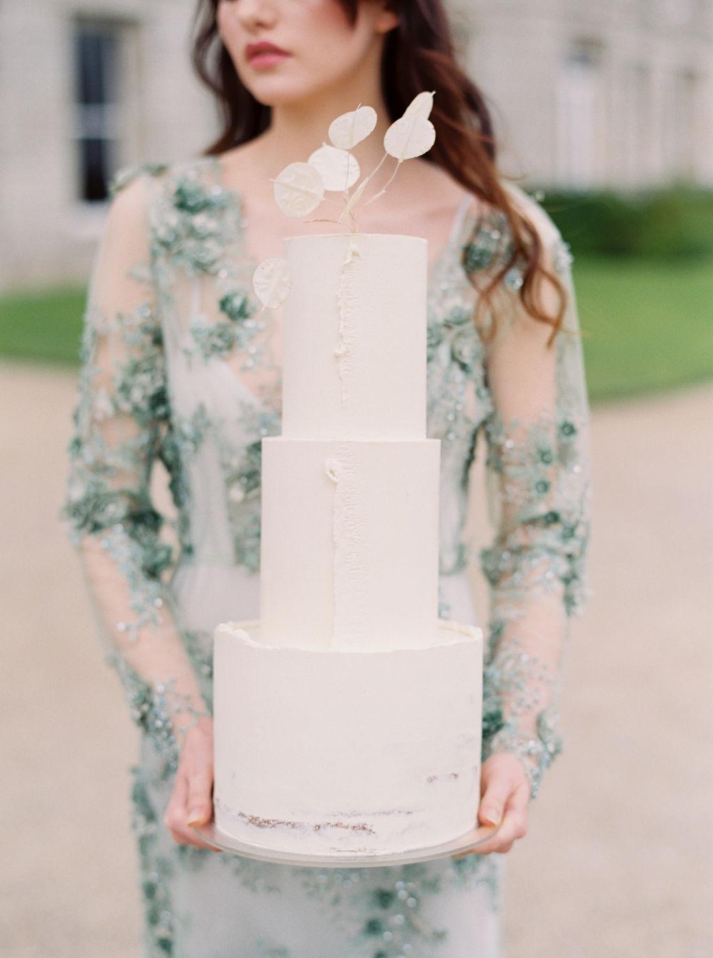 Delicate Ganache Wedding Cake