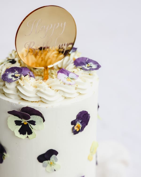 Pressed Flower Cake Cove Cake Design