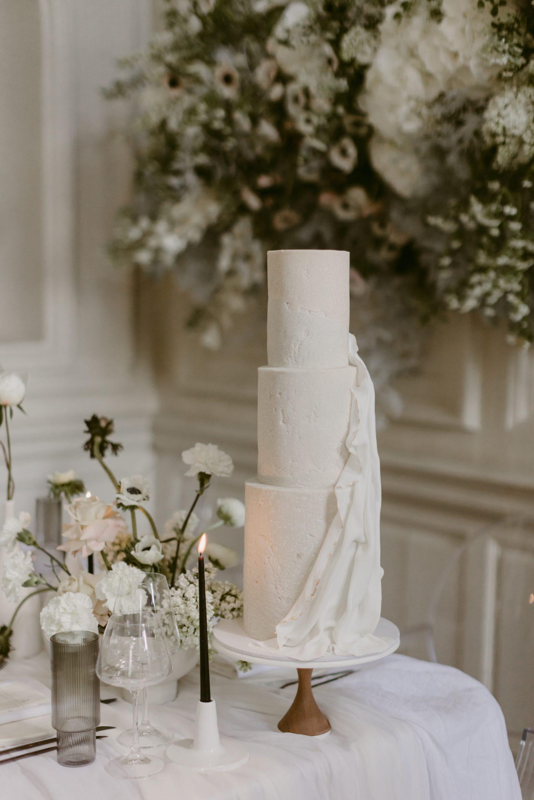 Modern Minimalism Wedding Cake