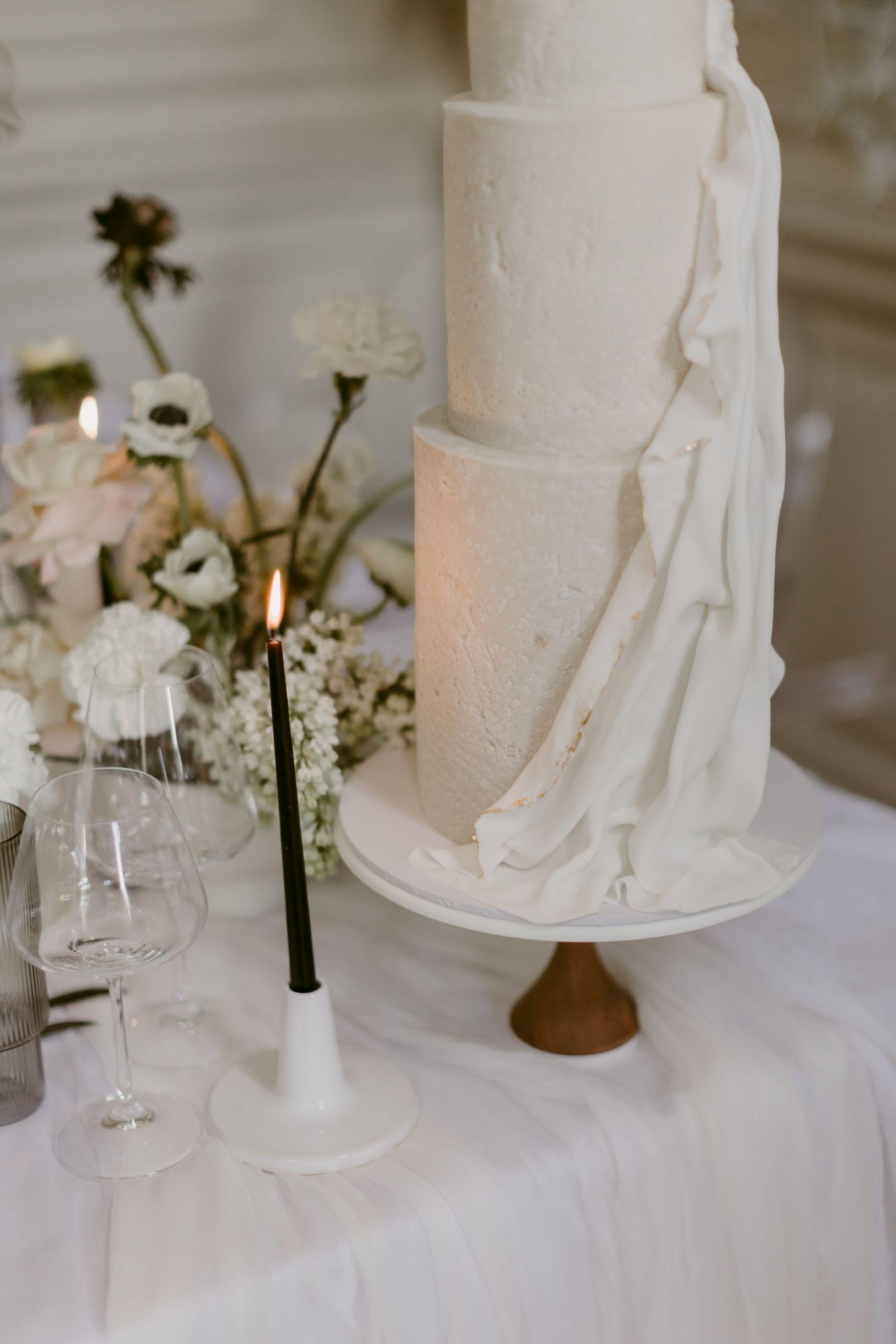 Modern Minimal Wedding Cake