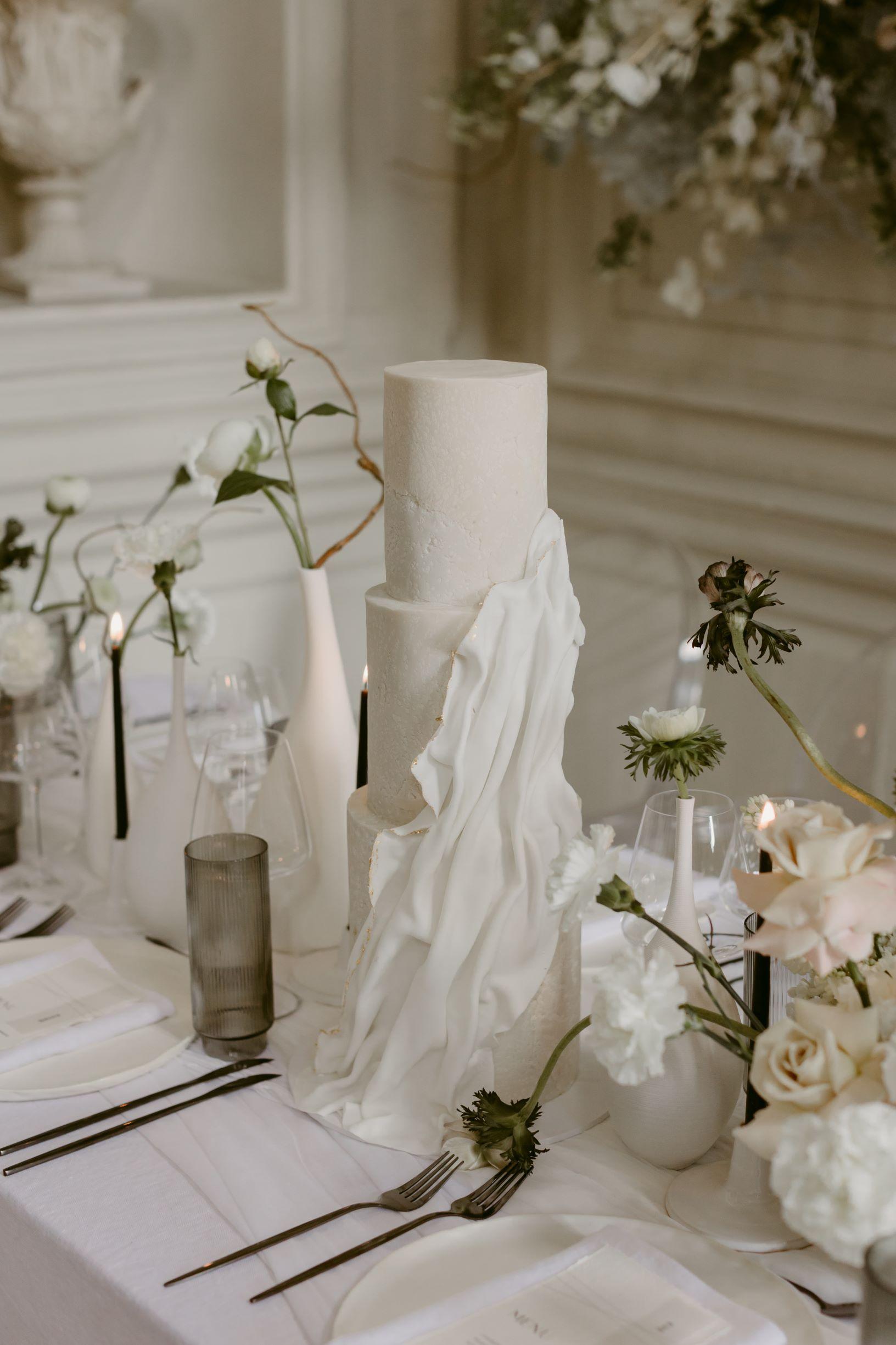 Modern Wedding Cake Cove Cake Design