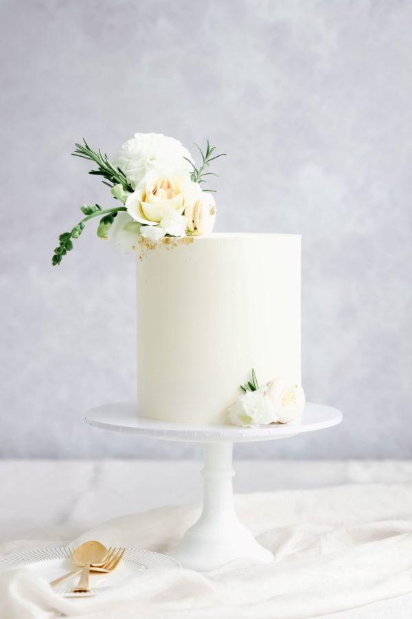 Ganache Flowers Cake
