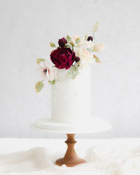 Fondant Lace Wedding Cake