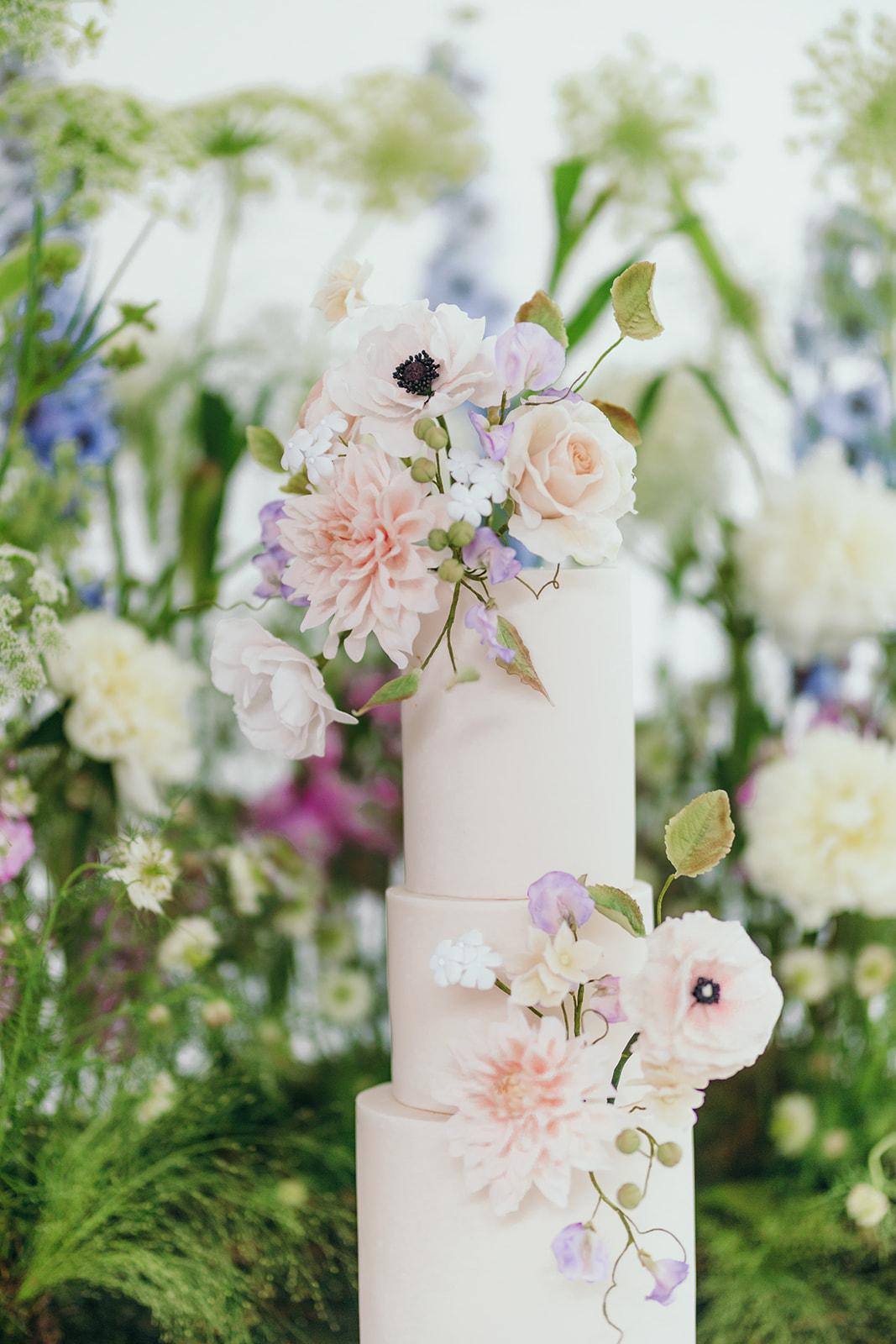 Summer Flower Wedding Cake
